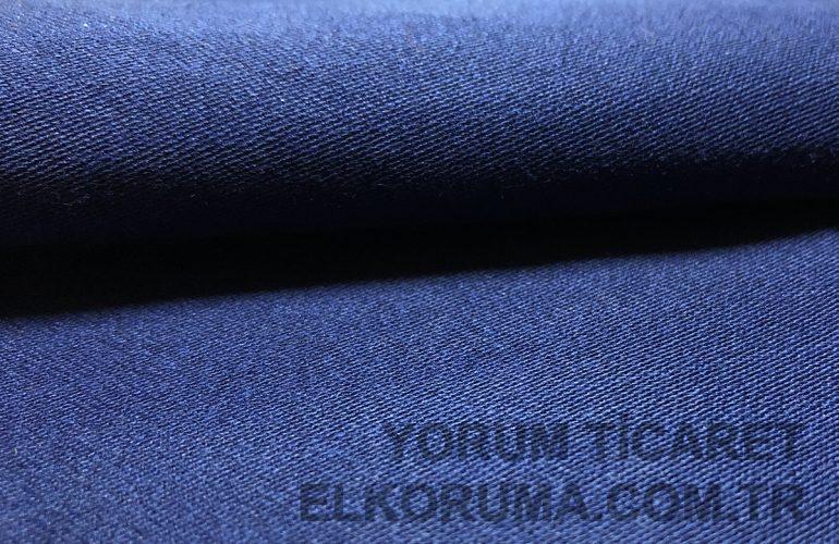 Koton ve Sentetik Karışımı Alev Almaz Kumaş Lacivert %86 Koton, %12 Sentetik, %2 Antistatik 255gr