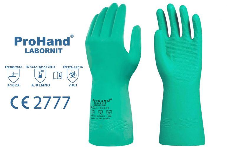 ProHand® Labornit 33cm Kimyasal Eldiven