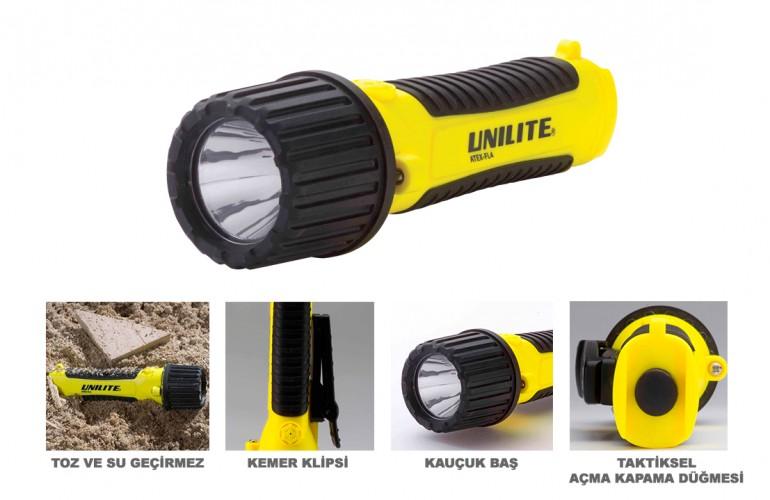 UNILITE ATEX ZONE 0 Kendinden Emniyetli LED El Feneri