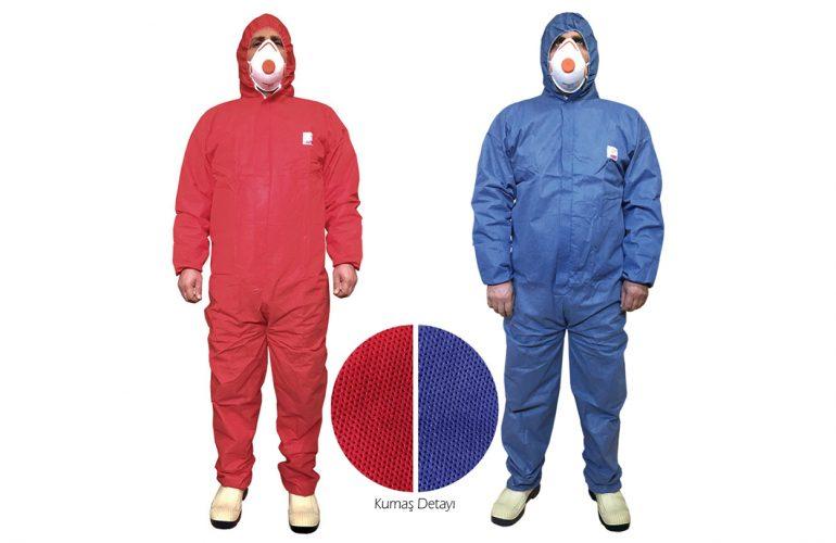 ProBody® Coverall 2000 Mavi ve Kırmızı Tulum