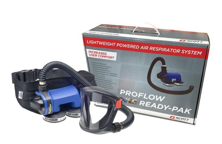 SCOTT Motorlu Hava Beslemeli Boyacı Solunum Seti – Proflow Ready-Pak